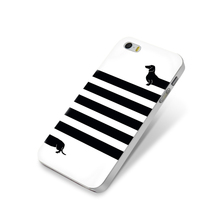 For Apple iPhone 5 Case Dachshund Dog Cute White Hard PC Case For iPhone 4s 4 5s 5c SE