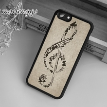 maifengge Fashion violin music Case For iPhone 6 6S 7 8 Plus X 5 5S SE Case cover for Samsung S5 S6 S7 edge S8 Plus shell(China)