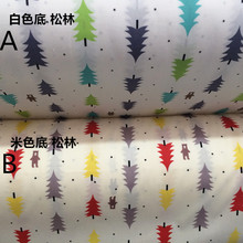 160cm*50cm pine baby cloth print cotton fabric bed sheets duvet cover linens pillow curtains fabric for sewing qulit tissues