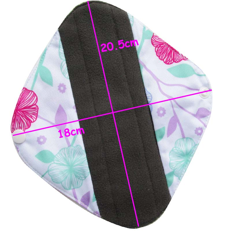 [Lecy Eco Life] Reusable lady light days cloth pads, waterproof pantyliner with bamboo charcoal inner, Feminine Hygiene Product 11