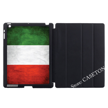 Flag Italy Italian Green White Red Stand Folio Cover Case For Apple iPad Mini 1 2 3 4 Air Pro 9.7