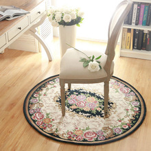 New Design Jacquard Round Rugs Non-Slip Living Room Door Floor Mats Bedroom Play Mat Table Chair Area Rugs Round Carpets Tapetes(China)