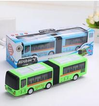 New electric universal bus flash music electric bus children's electric toys