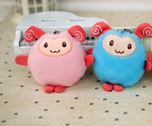 Kawaii 2Colors- Small Plush Sheep 8CM Stuffed Toy Doll ; small plush doll for Wedding Bouquet , String Pendant Toy Doll