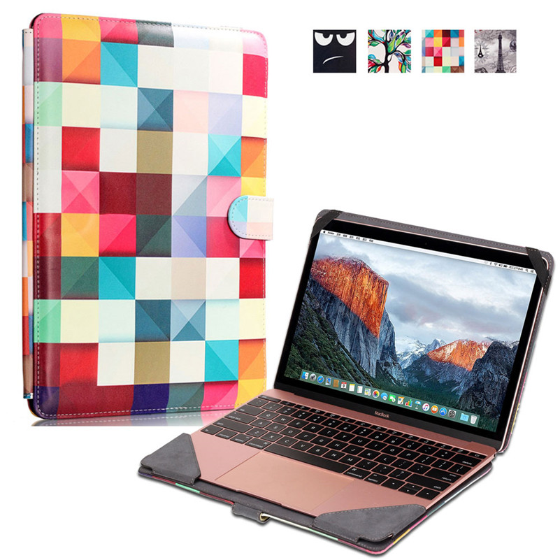 Colorful Plaid Laptop Sleeve Case Bag for Macbook 12 Inch PU Notebook Computer Protective Pouch<br><br>Aliexpress