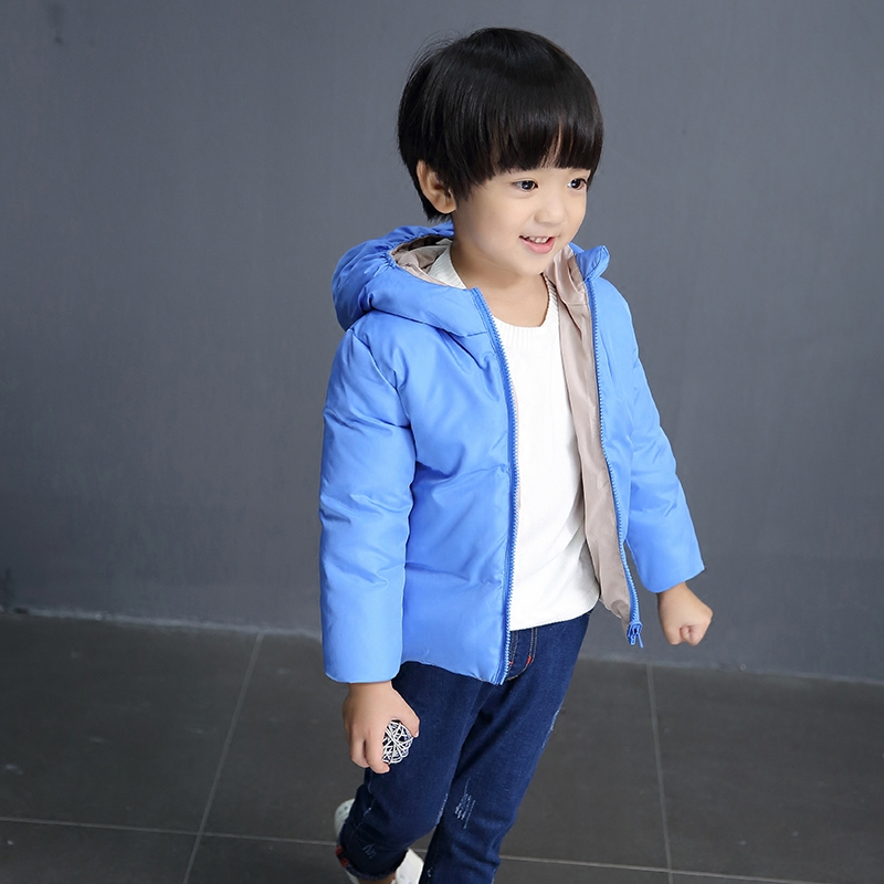 Children boys and girls down jacket to wear on both sides of Korean short coatОдежда и ак�е��уары<br><br><br>Aliexpress