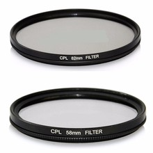 52/55/58/62/67/72/77/82mm CPL Circular Polarizer Polarizing Glass Filter for Nikon for Canon For Sony DSLR Digital Camera Lens