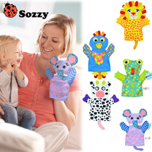 Sozzy Baby Hand Puppet Baby Puppets Toys Glove Baby Bath Rubbing Parents Infant Interaction Cartoon Toy for Newborn 0-12 months