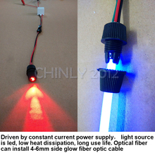1W DC 12V car use  home use car light side glow fiber optic light illuminator constant current power supply