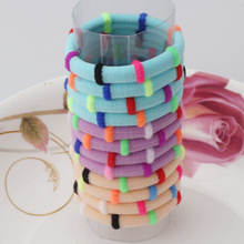 1pack=12pcs Colorful  Hair Accessories Rubber Headbands Cute Hair Ring Gum for Hair Girls Elastic Hair Bands