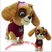 New Doll Walking Barking Musical Robot Dog Electronic pet Toys Interactive Electric Pets Plush Toy Dog Christmas Gift For Kids(China)
