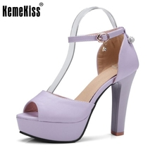 KemeKiss Size 32-45 Lady High Heel Sandals Ankel Strap Peep Toe Summer Shoes Women Sexy Club Party Wedding Female Footwears