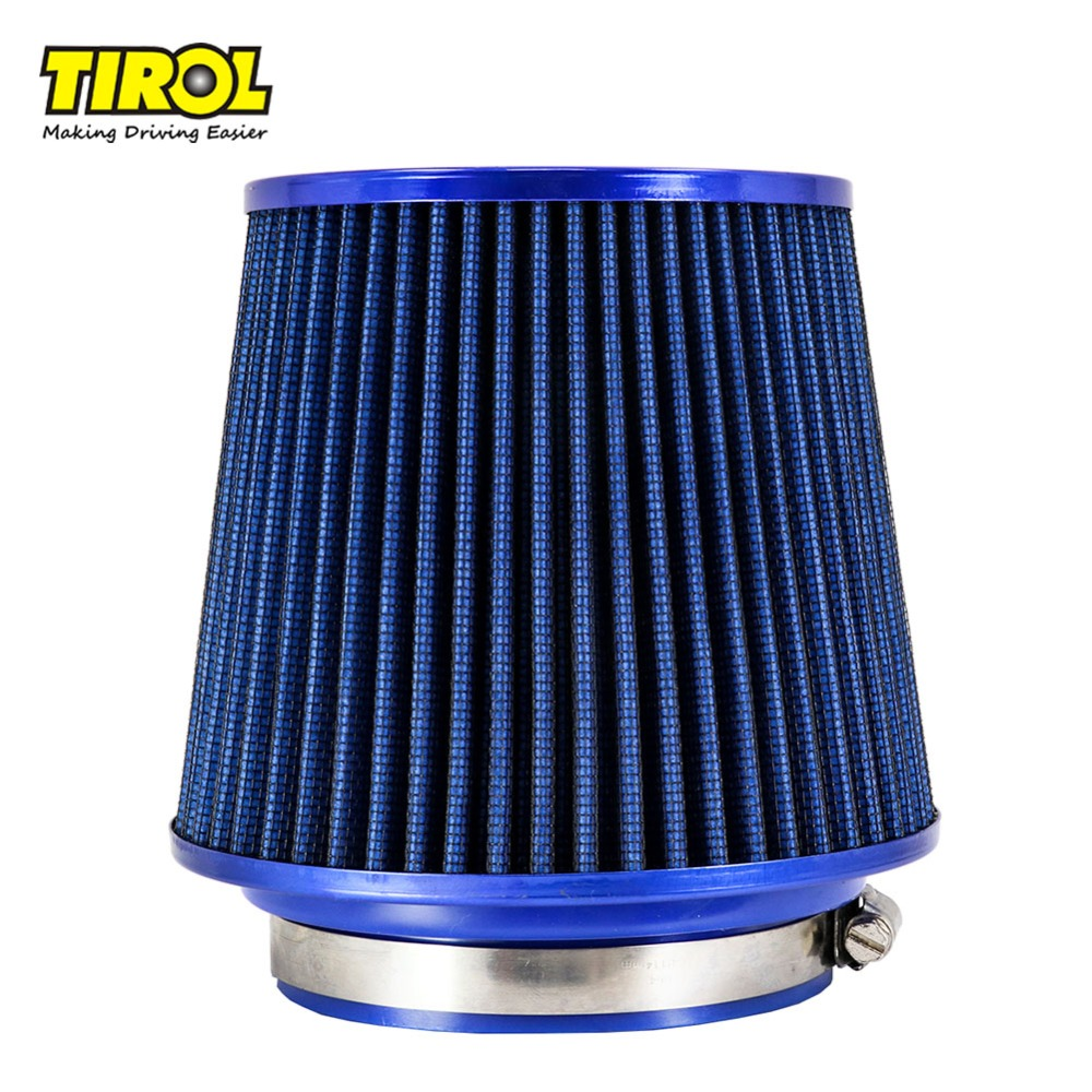 """BLUE 2006 UNIVERSAL 76mm 3/"""" INCHES AIR INTAKE FILTER"""