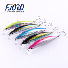 2017 Quality 5pcs/lot 125mm 40g Minnow Laser Hard Professional SwimBait Artificial Bait Equipped VMC Hooks Sinking Fishing Lure
