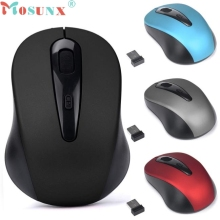 Wireless Mouse 2.4GHz USB Optical Scroll Mice for Tablet Laptop Computer 0106 mosunx