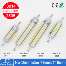 5w 78mm LED R7S light 10w 118mm 3528 /3014SMD 360 degree perfect replace halogen lamp 220V Christmas lighting free shipping