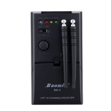 Baomic BM5 Guitar Wireless System Audio Bug Transmitter Receiver for Free Stage Performance Automatic Frequency UHF Instrument