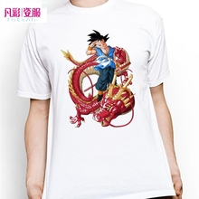 Goku Ride Red Dragon T Shirt Design Inspired By Dragon Ball T-shirt Fashion Casual Novelty Cool Style Tshirt Men Women Print Tee