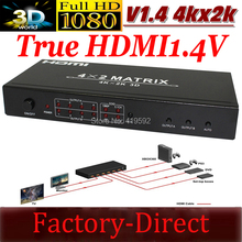 HDMI switch splitter 1.4V  HDMI matrix 4x2 supports 3D Video 4Kx2K resolutions