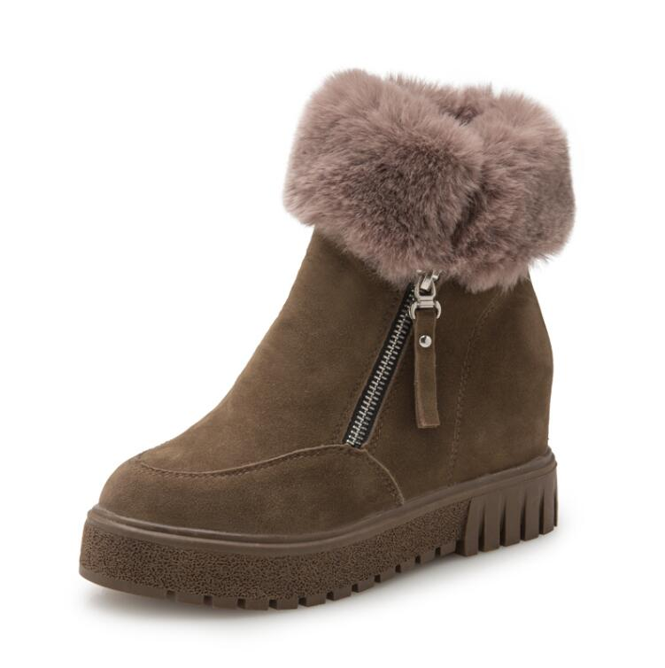 Platform Women Boots Casual Fur Creepers 2016 Wedges Shoes Woman Casual Women Boots Warm Women Flats Shoes<br><br>Aliexpress