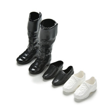 Clothes Accessories Dress Up For Barbie Friend Dolls Cusp Shoes Sneakers Knee High Boots For Barbie Boyfriend Ken 3 Pairs(China)