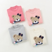 2016 new winter children sweaters girls' fashion cotton sweaters 4-10 years children clothing 1577