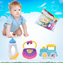 New Baby Mobile Classic Baby Rattle Bell and Gutta-percha Play Set Toys Gifts Baby Educational Toy(China)