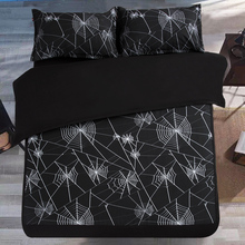 Black White Spider web Bedding Set Geometric Kids Boys Men Duvet Cover set twin/queen/King size 3/4pcs without filler Bed Sheet(China)