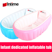 Infant Dedicated Inflatable bathtub thicken PVC Bath Tub Baby Swimming Pool Eco-friendly Portable Children Kids Tub 98x65x28CM(China)