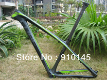Hot Sales ! Free Shipping ! Cube Reaction GTC 29er Mountain carbon frame Green/Grey/Black
