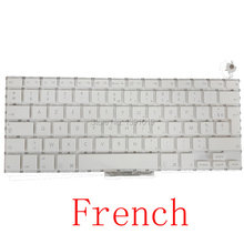 "10pcs/lot Genuine Original France A1181 13.3"" For Apple Macbook Air Laptop Parts French Keyboards White Black Replacement Tested"