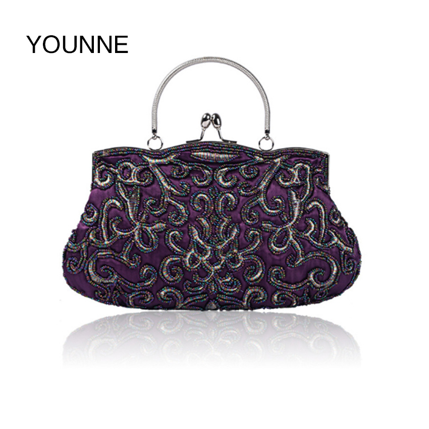 YOUNNE  Women Evening Bag Exquisite handicraft Bead Embroider Bags Vintage Qipao Dinner Bags Women k-157<br>