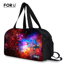 FORUDESIGNS High Quality Canvas Women Travel Bag Female Galaxy Star Space Printing Duffle Bags Ladies Luggage Travel Duffel Bag(China)