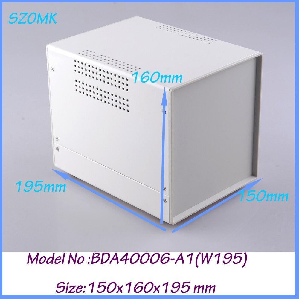 1 piece electronics aluminum case diy aluminium case 150x160x195 mm diy aluminium case aluminum enclosure box<br>