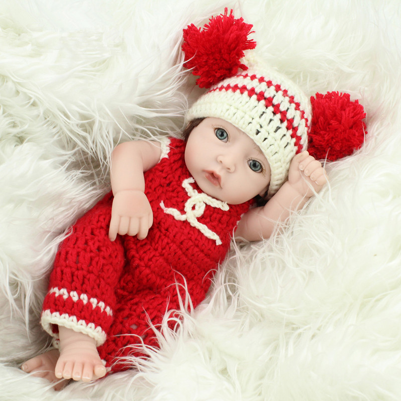 11 inch Real Girl Doll Reborn Toys with Lovely Sweater Silicone Reborn Babies Boneca Reborn Menina Juguetes Best Gift Brinquedos<br><br>Aliexpress