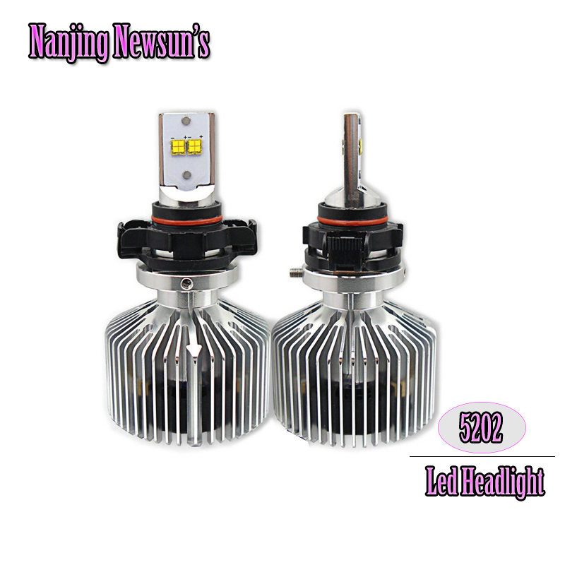High Power 5202 H16 Led Headlight Bulbs W/ Driver Auto Car Motorcycle Led Headlamp Bulb Conversion Kits Replacement Bulbs <br><br>Aliexpress