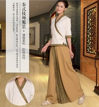 Thai SPA Restaurants& Hotel Thailand traditional clothing Spring Beautician Working Clothing