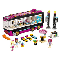10407 Friends Pop Star Tour Bus Building Kit 41106 Model Building Blocks Bricks Assembling Toy Gift Compatible with Legoe 41106(China)