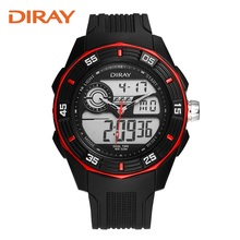 Men's double display student sports watch tide multifunctional electronic watch Running male LED men's outdoor swimming