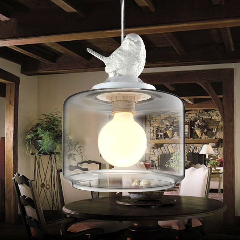 Contemporary and contracted creative personality retro art glass chandelier cafe restaurant study lamps act the role of milan<br>