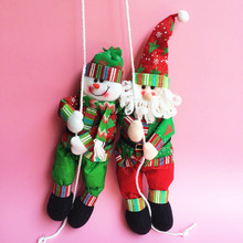 Site layout props Christmas Santa Claus Snowman climbing Rope Holiday Figurines new year christmas gifts for girls boys kid toys