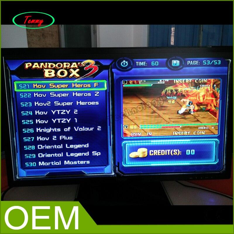 2015 HD Another Pandoras Box 3 arcade cabinet 520 in 1 multi game board fliperama Pandora box 3 jamma games VGA output<br><br>Aliexpress