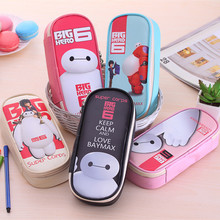 2017 Cute Big Hero Pencil Bag Boys Girls Multifunction Pen Case Korean PU Pencil Box 5 Colors Stationery Store School Supplies