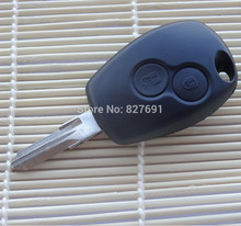 2 Buttons Remote Key Shell for RENAULT Clio DACIA Logan Sandero Key Case Shell Blank Fob 2 BTN Uncut Blade 1 piece with logo