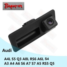 BOQUERON for Audi A4L S4 S5 Q3 A8L RS6 A6L A3 A4 A6 S6 A7 S7 A5 RS5 Q5 Car Reversing Parking Rear View Camera CCD Trunk Handle