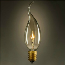Light bulb candle lamp E14 bubble tip 40w light source vintage light bulb(China)