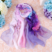 Spring And Summer Scarves Female Joe's Scarf Long Scarf Thin Section Of The Two Flower Scarves