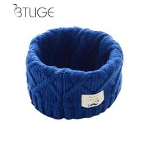 BTLIGE Cute Cotton Winter Baby Scarf Children Girls Boys Knitted Wool O Scarves Kids Solid Color Warm Scarf(China)