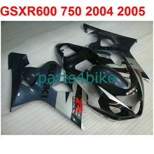 Black&silver Bodywork gsxr 600 Fairing kit For Suzuki 750 2004 2005 04 05 ( 100%New) fairings free Windscreen m27