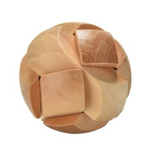 Football Shape Puzzle Brain Training Toy Wooden Puzzle Cube/Educational Toy Kong Ming/Luban Lock for Adult Children
